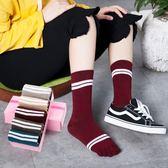 五指襪女純棉秋冬款高筒加厚分腳趾拇指襪日系可愛韓版學院風襪子 韓幕精品
