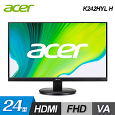 【Acer 宏碁】K242HYL H 24型 無邊框廣視角螢幕