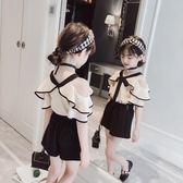 童裝女童套裝夏裝新款時尚韓版兒童夏季女孩洋氣時髦兩件套潮 范思萊恩