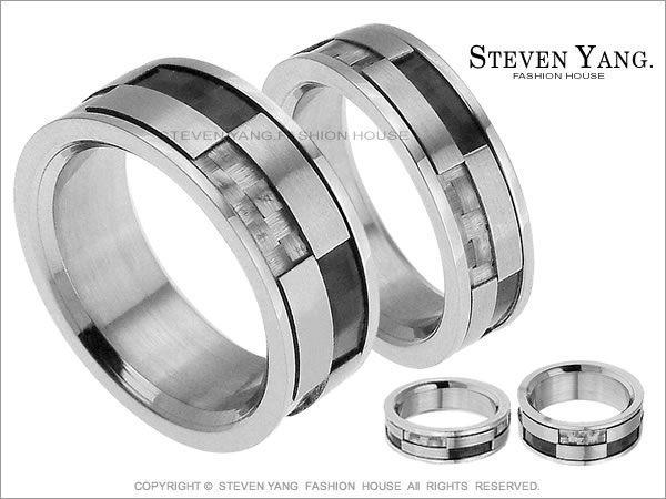 情侶對戒STEVEN YANG西德鋼飾「擁抱時尚」鋼戒指*單個價格*