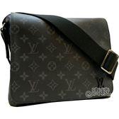 【Louis Vuitton 路易威登】M44000 DISTRICT PM 黑經典花紋斜背包