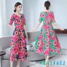 2020夏季新款中國風復古民族風短袖棉麻連身裙洋裝大碼修身顯瘦長裙子 OO9659『科炫3C』