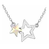 水晶項鍊+925純銀吊墜-星星物語生日情人節禮物女飾品4色73bb358【時尚巴黎】
