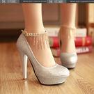 細跟流蘇超高跟婚鞋