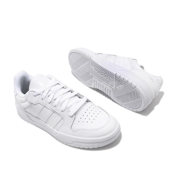 adidas 休閒鞋 Entrap 白 全白 男鞋 小白鞋 皮革鞋面 運動鞋 【ACS】 EH1865