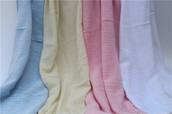 嬰兒寶寶純棉洞洞毯寶寶蓋被外出蓋毯透氣毯毛毯包巾夏天蓋毯冷氣毯包巾120x150CM-UN SHOP【BED0