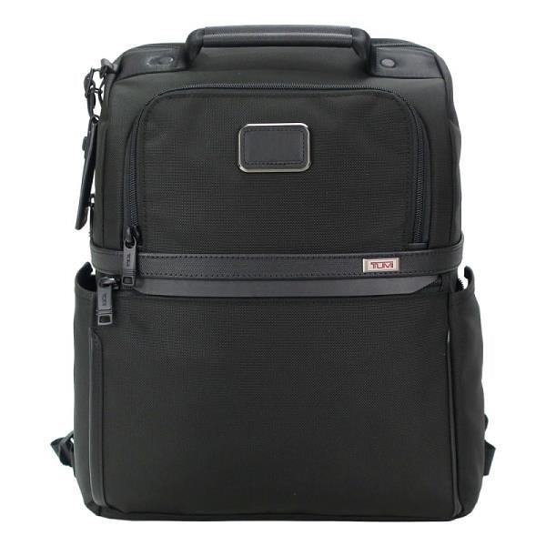 【南紡購物中心】TUMI ALPHA3 SLIM簡約後背包(適用15吋筆電)-黑