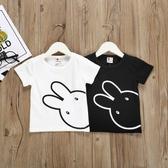 兒童短袖 兒童小兔短袖T恤2020夏裝新款女童童裝兒童短袖夏裝女圓領上衣潮【萬聖夜來臨】
