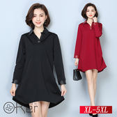 寬鬆顯瘦加絨加厚中長款連衣裙 XL-5XL O-Ker歐珂兒 151102