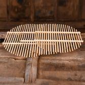 蒸籠竹篦子竹蒸片家用蒸饃熱饅頭架子圓形無金屬柳釘塑料蒸鍋蒸架蒸格-超凡旗艦店