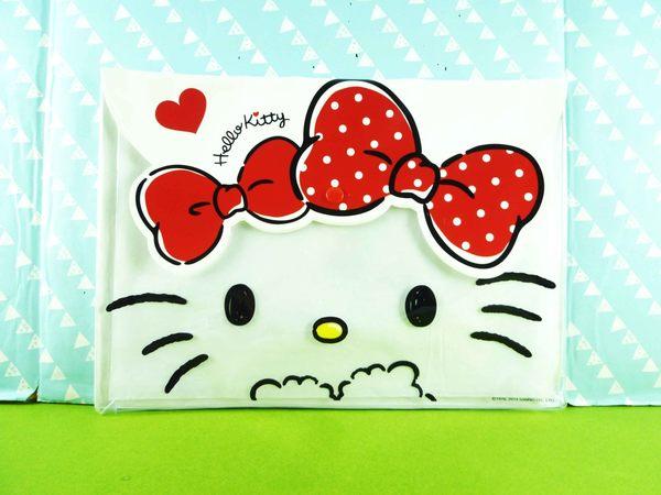 【震撼精品百貨】Hello Kitty 凱蒂貓~文件袋~紅緞帶【共1款】
