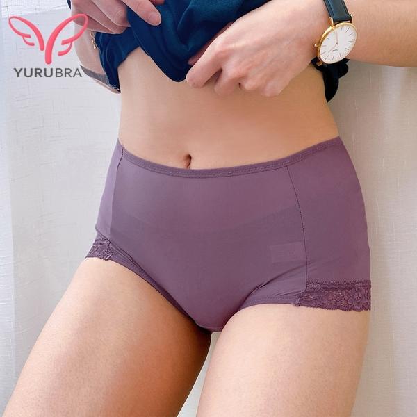 【Yurubra】極親絲柔感無雙褲。低腰平口-彈性-透氣-無痕-舒適-台灣製。※K067