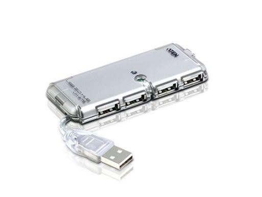 新竹【超人3C】【全新/含稅】ATEN USB HUB 4P 2.0+變壓 ◆有LED指示燈◆USB 2.0 規格
