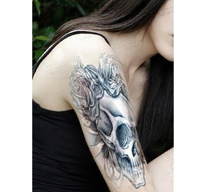 薇嘉雅   骷簍頭 環臂圖案紋身貼紙 AX72