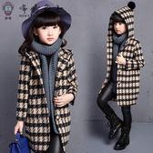 女童外套女童新款毛呢子大衣兒童冬款加厚秋裝中長款風衣中大童外套4【618又一發好康八折】