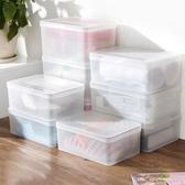 透明塑料有蓋可疊加衣服收納盒桌面化妝品收納盒廚房長方形儲物盒wy【中秋節預熱】
