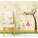 【半島良品】壁貼 DIY創意無痕 牆貼 貼紙-鳥窩柵欄 60X90-SK9085