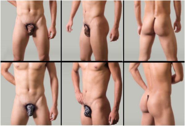《蘇菲雅睡衣精品》性感透視銀絲圖驣男性隱形C字褲