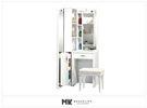 【MK億騰傢俱】CS599-A妮可拉2.2尺白色組合化妝台組(含椅)