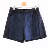 【MASTINA】異材質毛呢拼接短褲-藍  秋裝限定嚴選