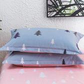 雙十二狂歡 純棉枕套 一對裝48*74CM全棉斜紋枕芯套 單人學生枕頭套 挪威森林