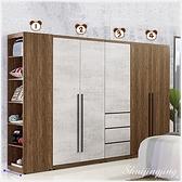 【水晶晶家具/傢俱首選】ZX1101-2緹諾7.8 x6.7尺木心板四件式組合衣櫃( 全組)