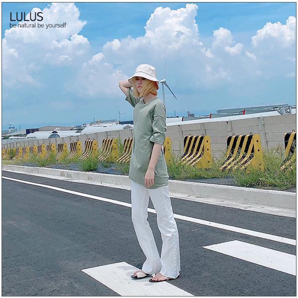 特價LULUS-Q下擺抽鬚牛仔微喇叭長褲S-XL-5色【04190235】