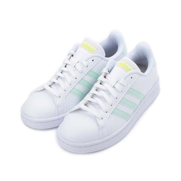 ADIDAS NEO GRAND COURT 復古板鞋 白淺綠 EG7643 女鞋