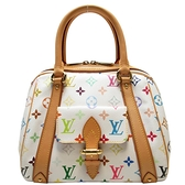 路易威登 LOUIS VUITTON LV 村上隆白彩手提包 Priscilla M40096【二手名牌BRAND OFF】