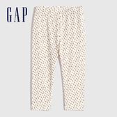 Gap嬰兒 布萊納系列 可愛印花針織長褲 731145-象牙白