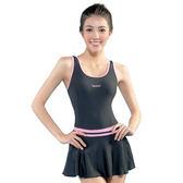 ★奧可那★ 韻動裙擺粉紅單件式泳衣