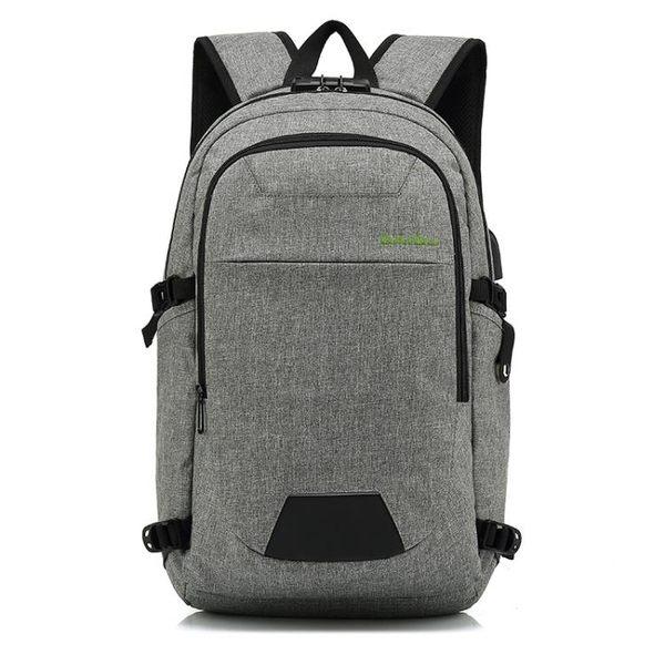 韓版防水後背包 多功能密碼防盜背包15吋筆電包《印象精品》e489