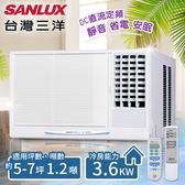 台灣三洋SANLUX】5-7坪定頻窗型冷氣(220V電壓)。右吹式/SA-R36FE(含基本安裝)