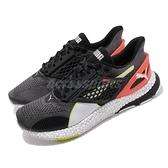 Puma 慢跑鞋 Hybrid Astro 黑 橘紅 黃綠 男鞋 運動鞋 NETFIT 鞋面 【ACS】 19279901