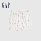Gap嬰兒 布萊納系列 可愛純棉印花花苞褲 681776-白色