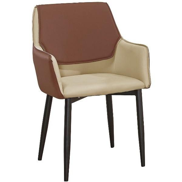 餐椅 QW-705-16 雲隱灰棕色皮餐椅【大眾家居舘】
