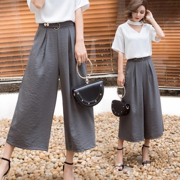 【GZ11】寬褲 七分褲 高腰寬鬆顯瘦休閒直筒褲 西裝褲