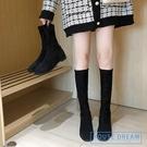 襪靴 靴子女年新款女靴秋款百搭平底過膝長靴網紅ins彈力襪靴