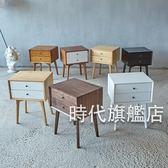 床頭櫃簡易床頭櫃簡約現代實木臥室經濟型北歐床頭收納櫃迷你歐式儲物櫃XW(免運)