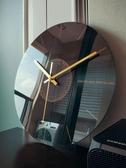 靜音掛鐘客廳石英鐘錶家用時鐘創意時尚現代簡約大氣藝術輕奢北歐  ATF  魔法鞋櫃
