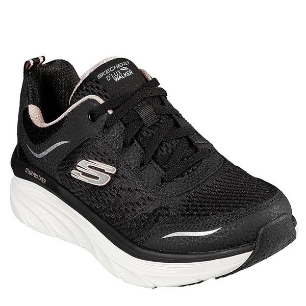 SKECHERS D LUX WALKER INFINITE 女款黑色運動健走鞋-NO.149023BKPK