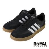 Adidas GRADAS 黑色 皮質 休閒滑板鞋 男款 NO.B1784【新竹皇家 FX9305】