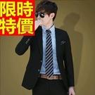 西裝套裝 包含西裝外套+褲子 男西服-上班族制服紳士必敗精緻品味3色54o10【巴黎精品】