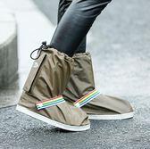 防雨鞋套正韓 防滑加厚耐磨底下雨天高筒男女戶外成人兒童旅游防水腳套【情人節禮物八折搶購】