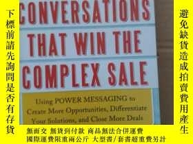 二手書博民逛書店~罕見!CONVERSATIONS THAT WIN THE COMPLEX SALE:9780071750905
