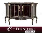 『 e+傢俱 』EF2 艾狄爾 Adiel  新古典 胡桃色 香檳金漆 玄關櫃 | 收納櫃 | 餐邊櫃 | 木紋傢俱