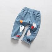 女童牛仔褲2019新款夏季裝兒童裝女孩休閒正韓長褲中小童洋氣褲子