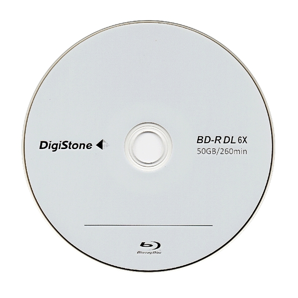 DigiStone 空白光碟片國際版 A+藍光 Blu-ray 6X BD-R DL 50GB 空白光碟片 (支援CPRM/BS) X 10P★免運費★