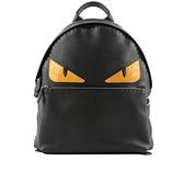 【FENDI】Bag Bugs 鱷魚皮怪獸眼睛牛皮後背包(黑色) FE15000004 FVZ012 6E3 F0H95