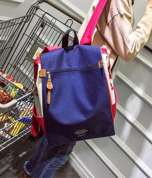 【TT】後背包 日系學院風帆布包 電腦包 大容量後背包 單肩手提